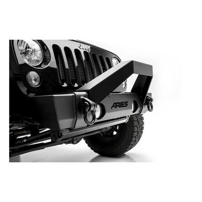 Aries Offroad TrailCrusher Front Bumper with Brush Guard (Black) - 2186000