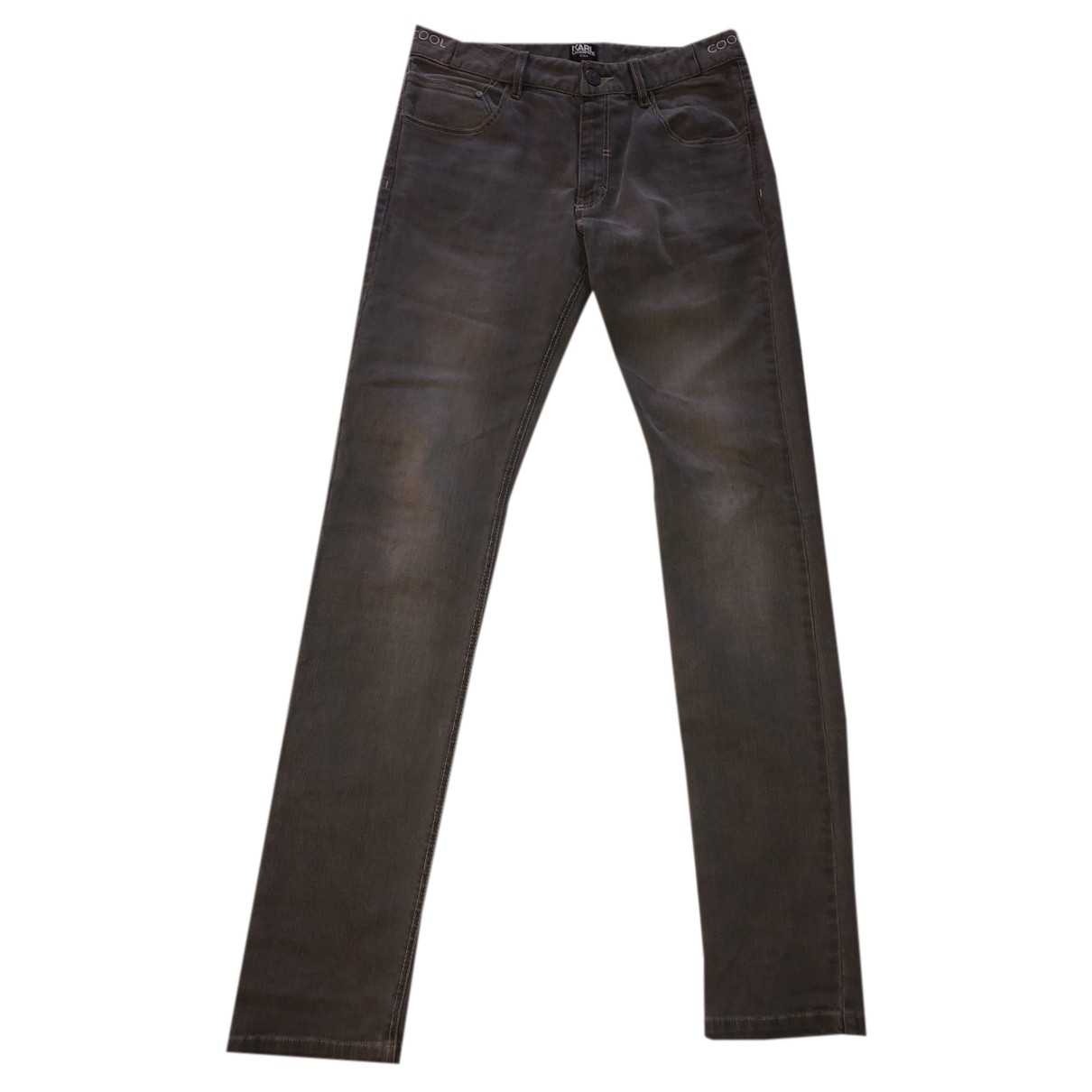 Karl Lagerfeld N Grey Cotton Trousers for Kids 14 years - S FR