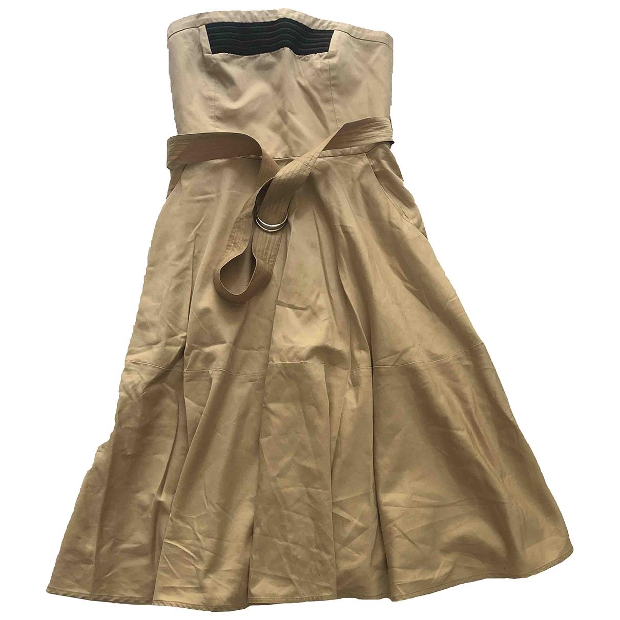 Claudie Pierlot - Robe   pour femme en coton - beige