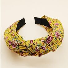 Ditsy Flower Pattern Pleated Hair Hoop