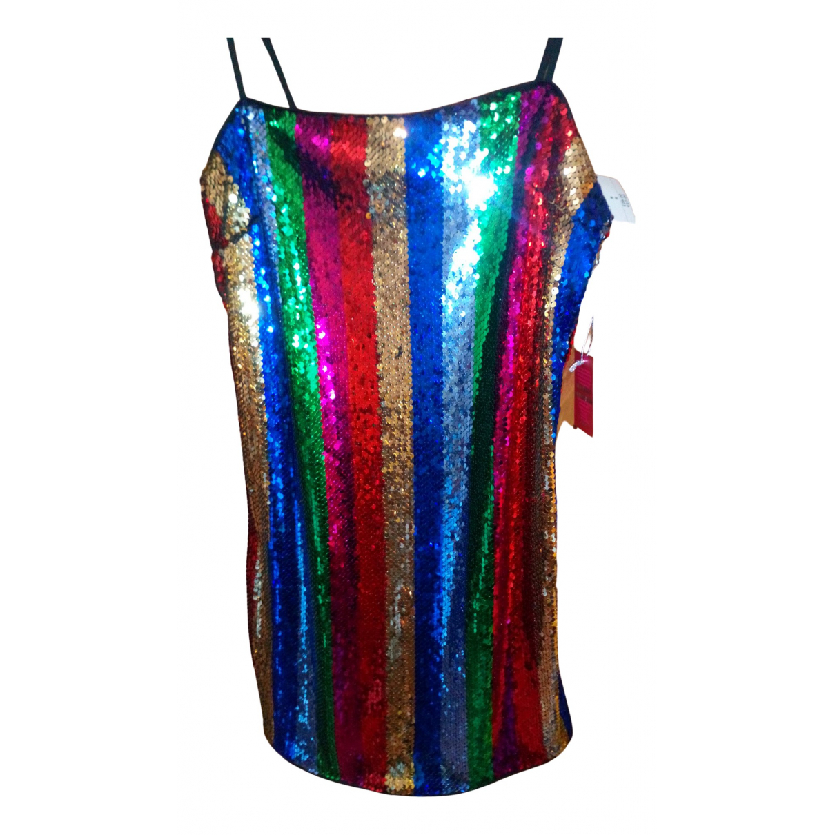 Mini vestido Epaulettes de Con lentejuelas Non Signe / Unsigned