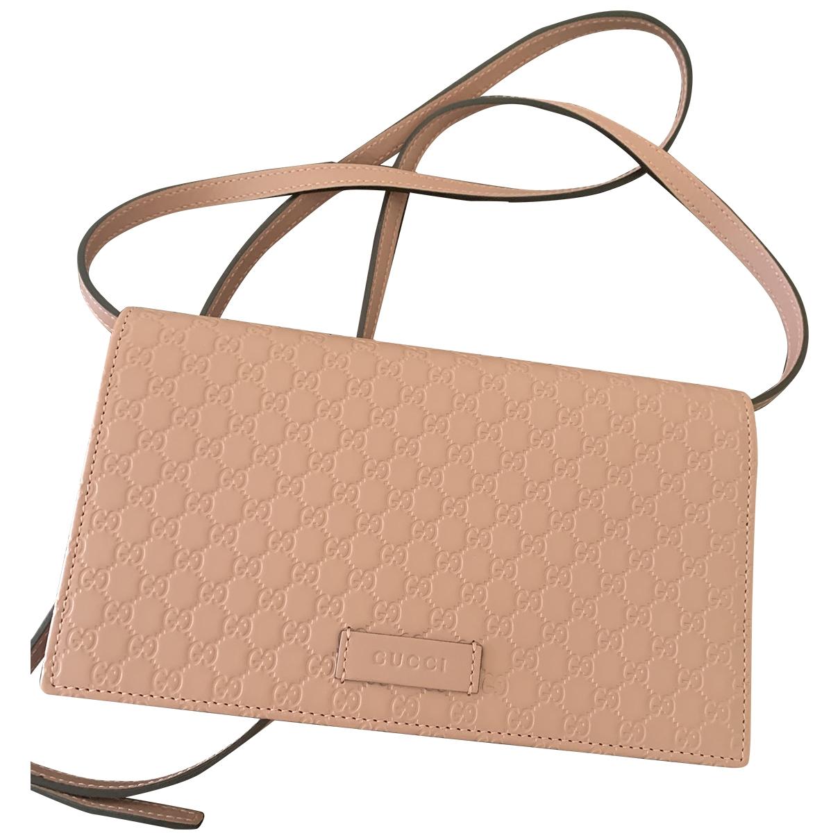 Gucci - Pochette   pour femme en cuir - rose