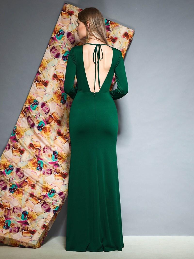 Ericdress Long Sleeves V-Neck Evening Dress