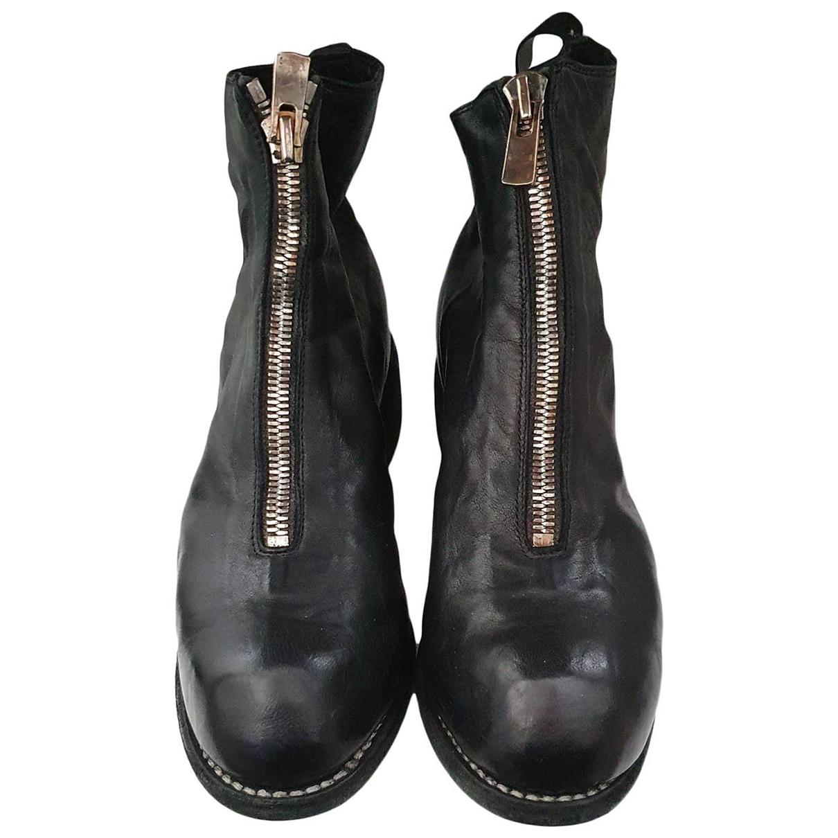 Guidi - Bottes   pour femme en cuir - noir