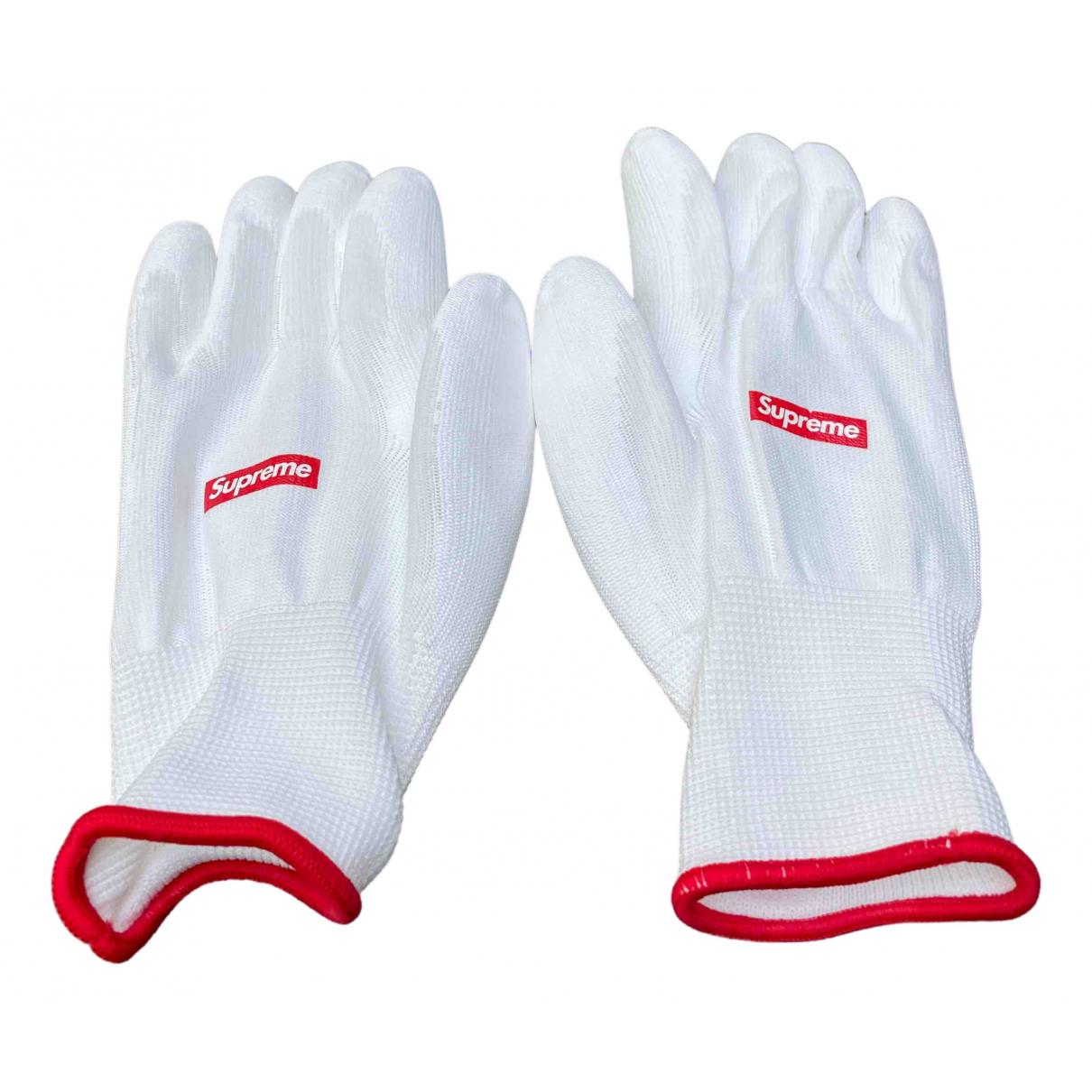 Supreme \N Handschuhe in  Weiss Baumwolle