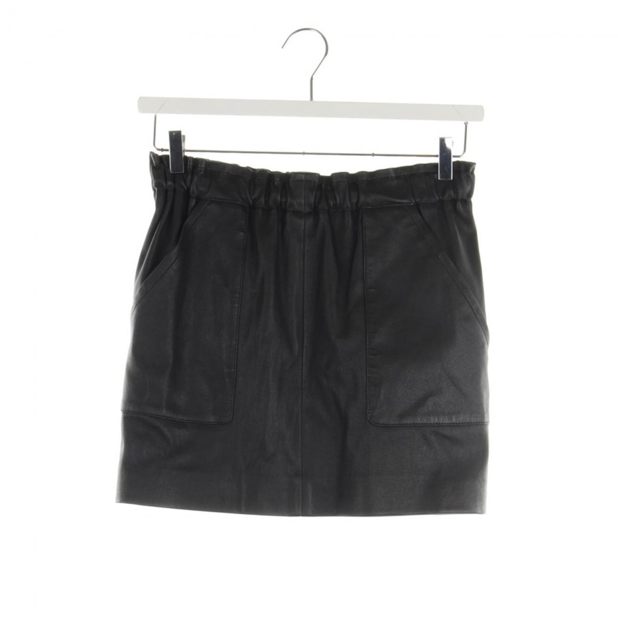 Sly010 - Jupe   pour femme en cuir - noir