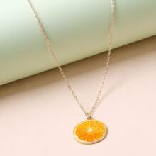 Orange Charm Necklace