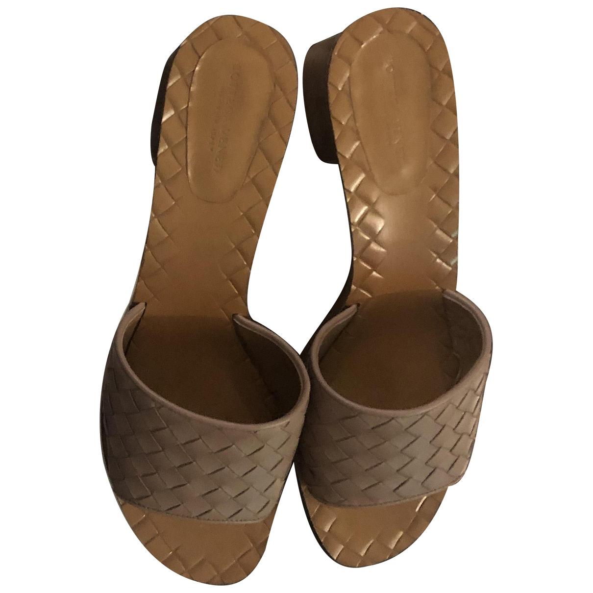 Bottega Veneta \N Leather Sandals for Women 37 EU