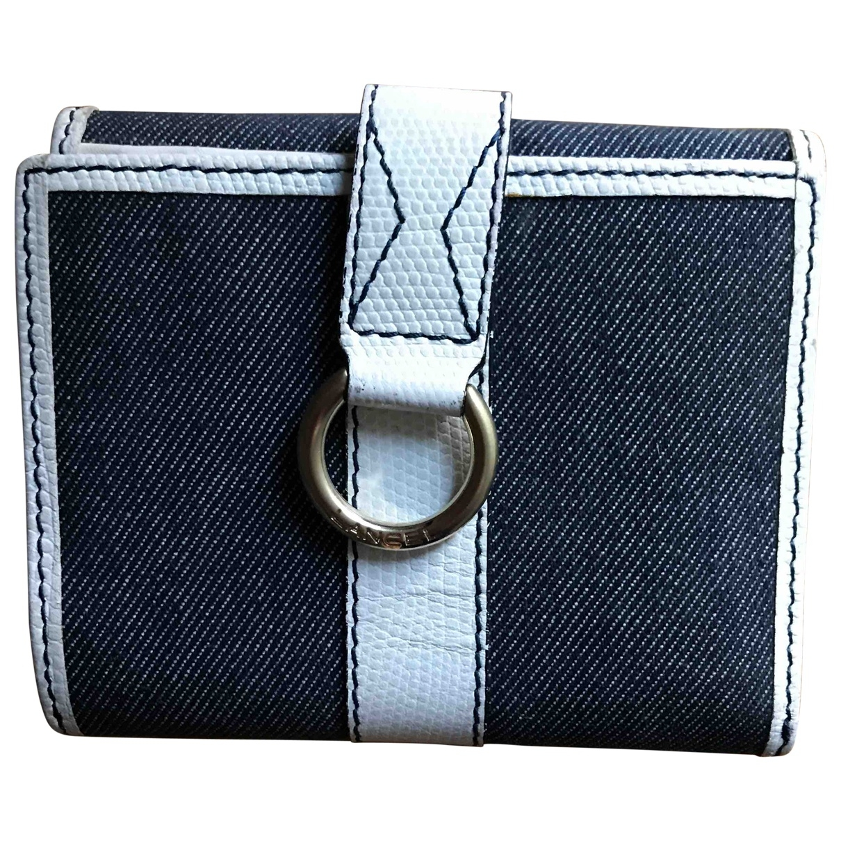 Lancel \N Portemonnaie in  Blau Denim - Jeans
