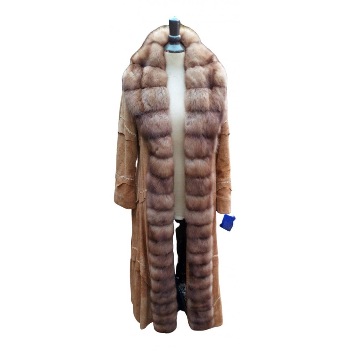 Non Signé / Unsigned N Brown Mink coat for Women 44 IT