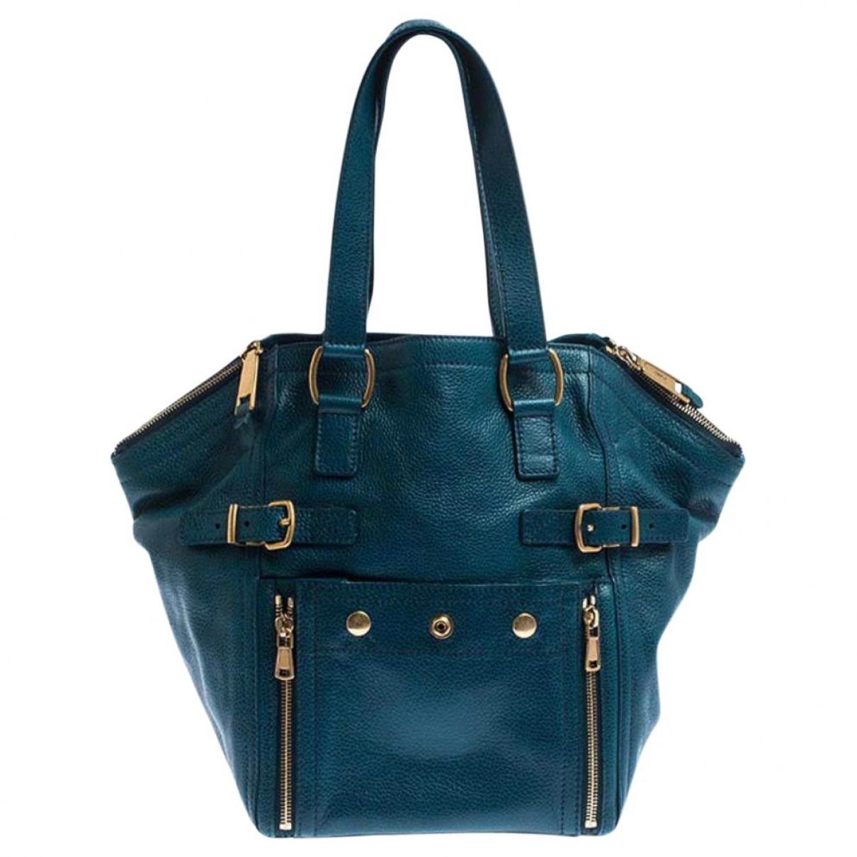 Saint Laurent Downtown Green Leather handbag for Women \N
