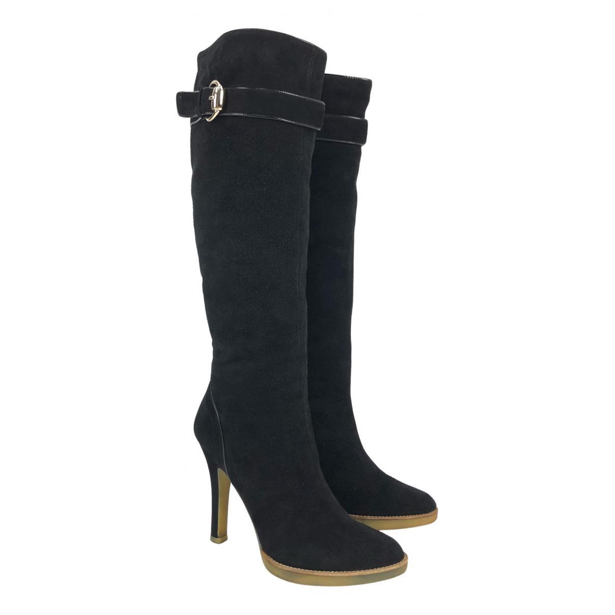 Gucci - Bottes   pour femme en suede - noir