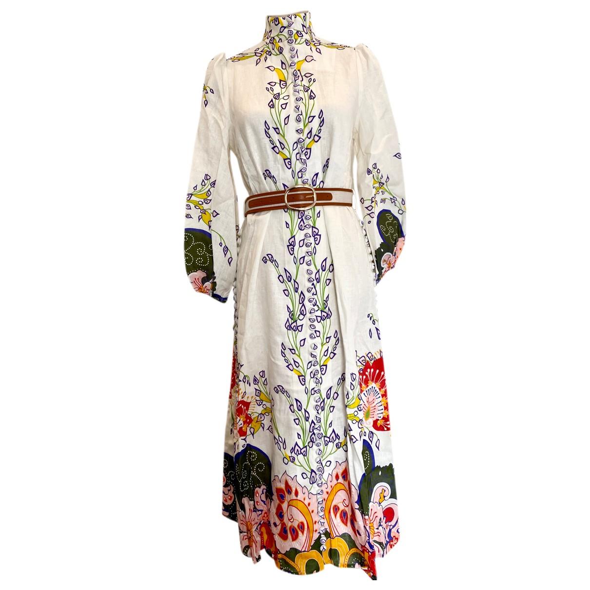 Zimmermann N White Linen dress for Women 0 0-5