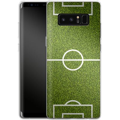 Samsung Galaxy Note 8 Silikon Handyhuelle - Soccer Field von caseable Designs