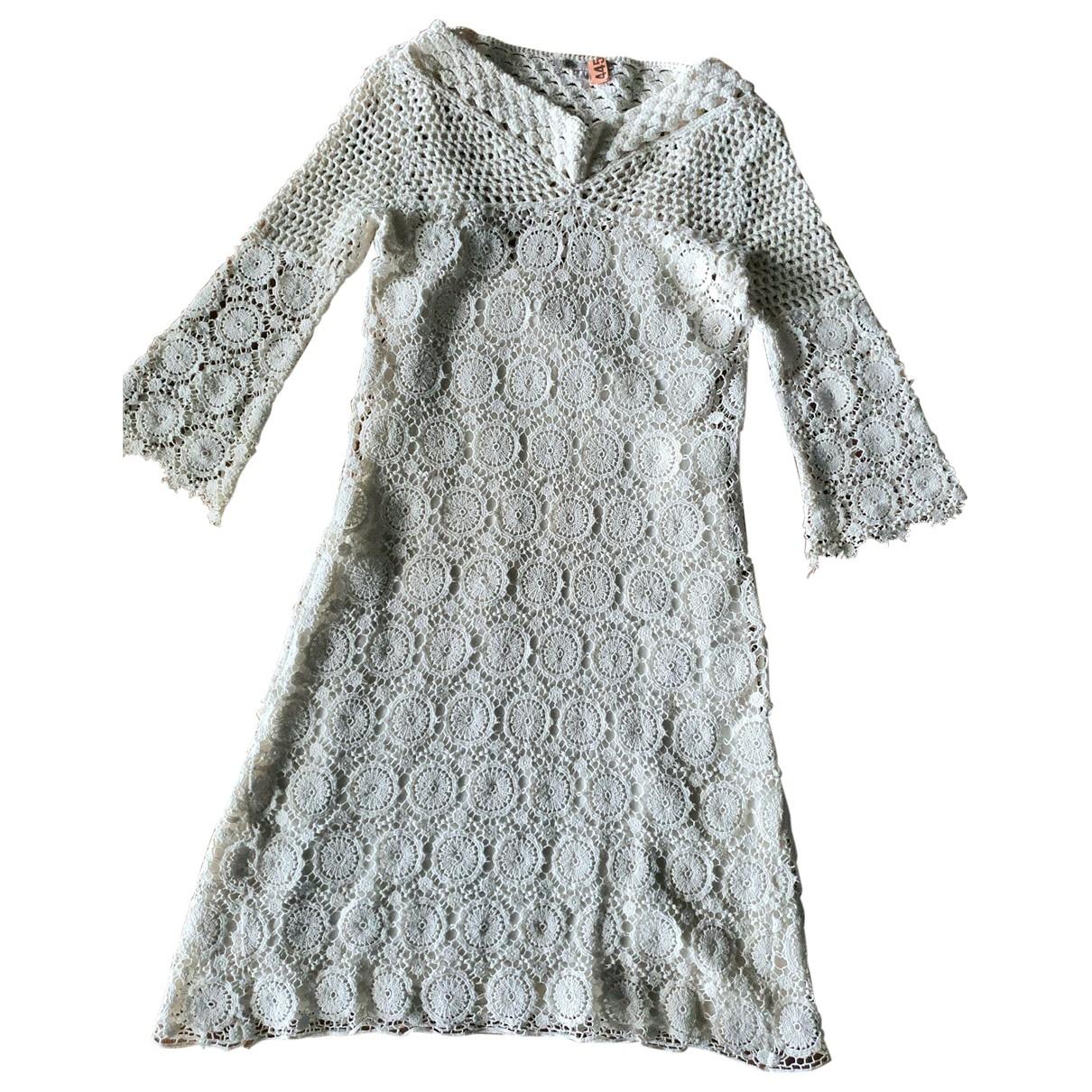 Maje - Robe   pour femme en coton - ecru