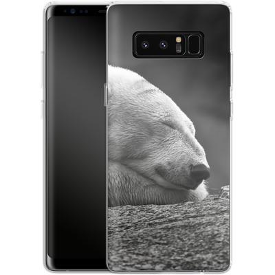 Samsung Galaxy Note 8 Silikon Handyhuelle - Polar Bear von caseable Designs