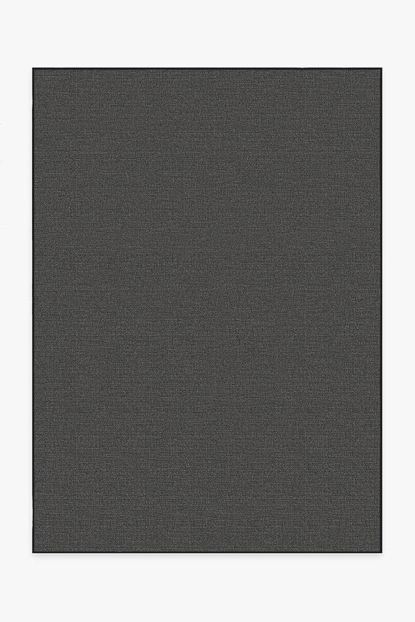 Washable Rug Cover | Outdoor Denim Solid Black Rug | Stain-Resistant | Ruggable | 5x7