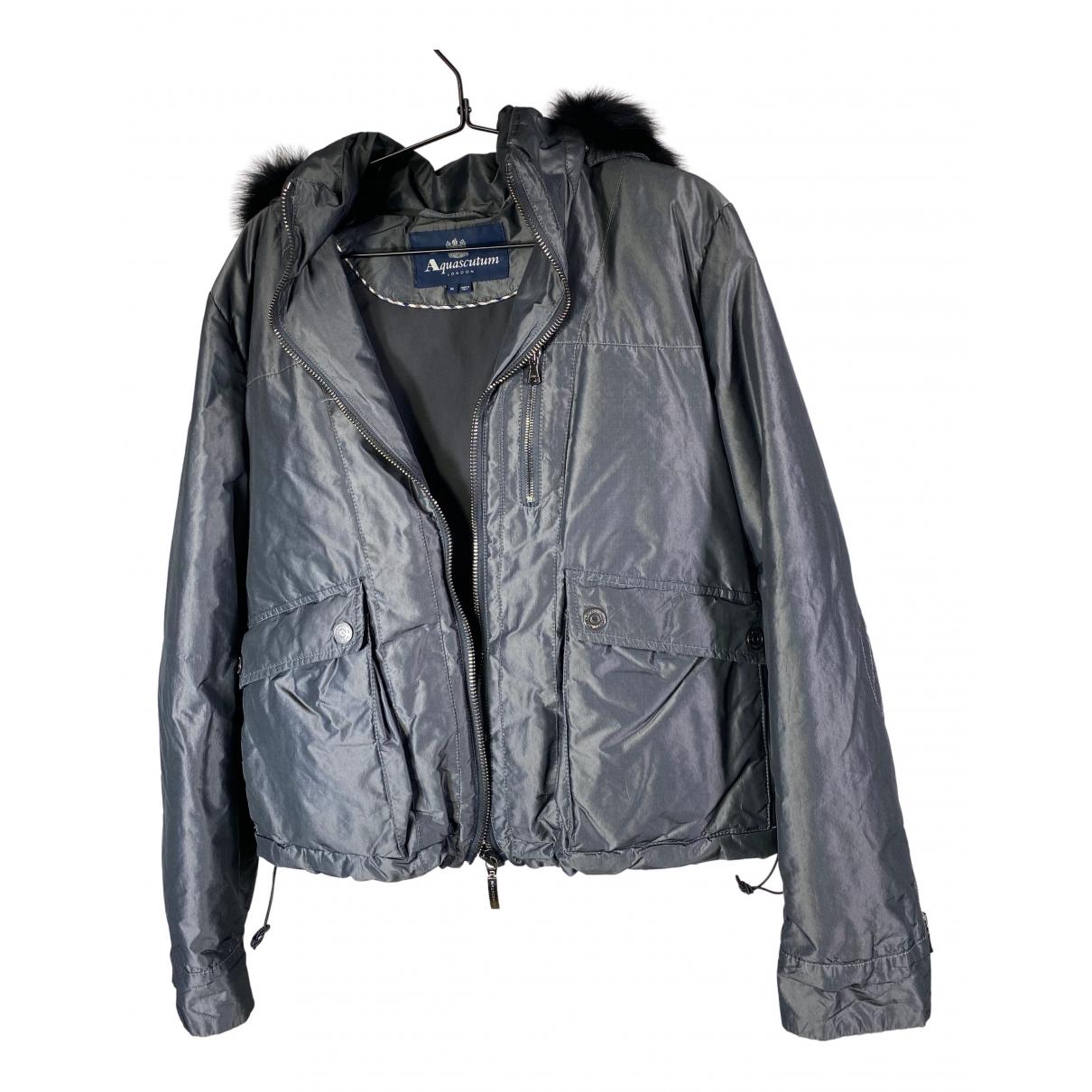 Aquascutum \N Grey Leather jacket for Women M International
