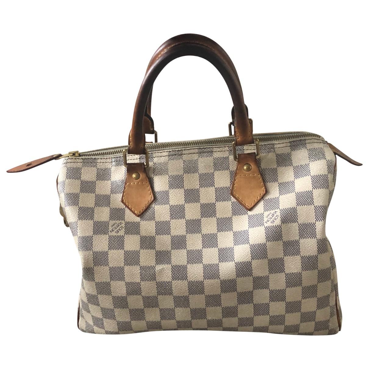 Louis Vuitton Speedy Ecru Cloth handbag for Women N