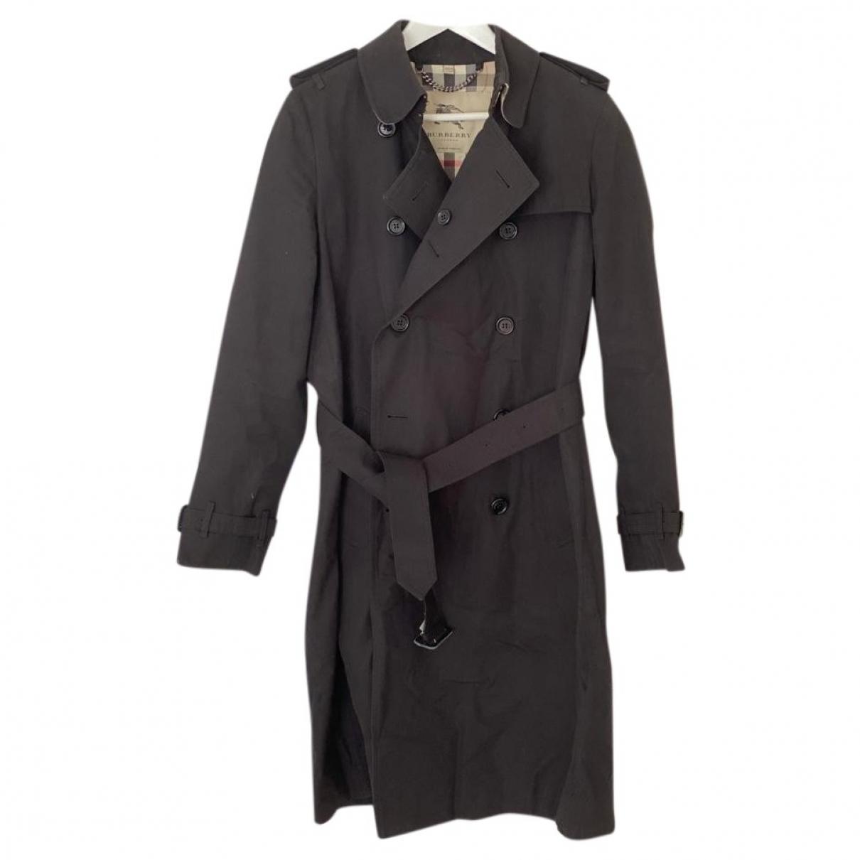 Burberry - Trench   pour femme en lin - noir
