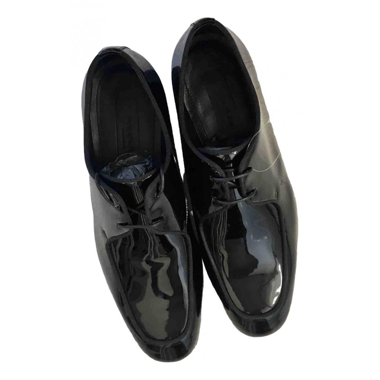 Ermenegildo Zegna - Derbies   pour homme en cuir verni - noir