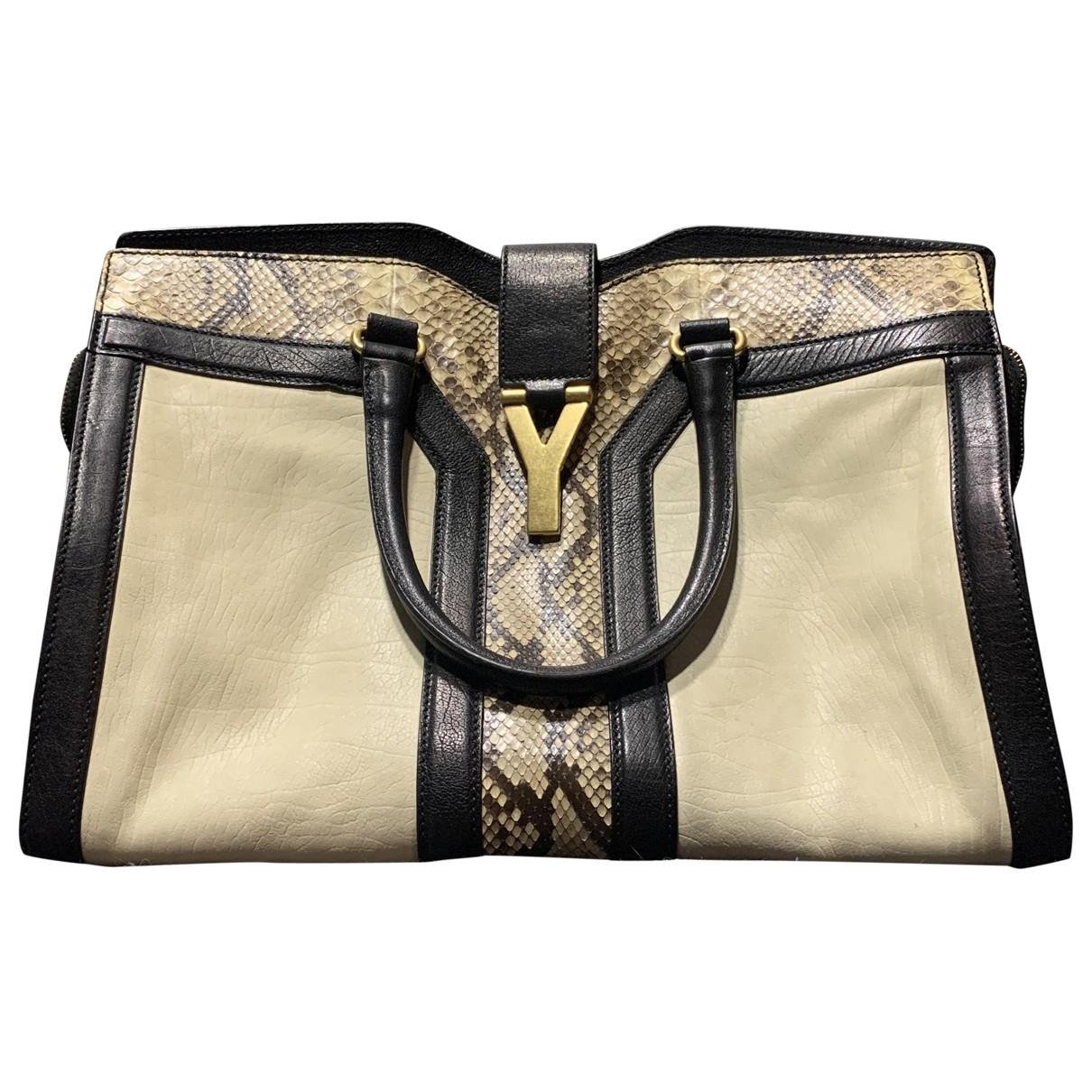 Yves Saint Laurent Chyc Beige Python handbag for Women \N