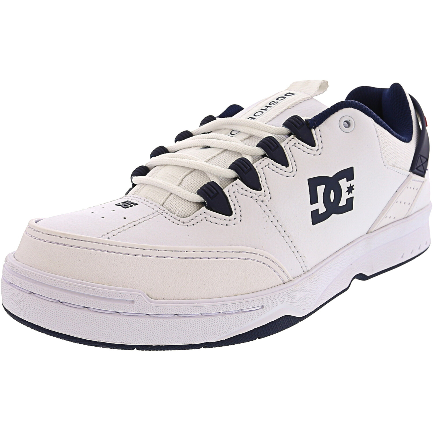 Dc Men's Syntax White / Navy Ankle-High Leather Women' - 8M