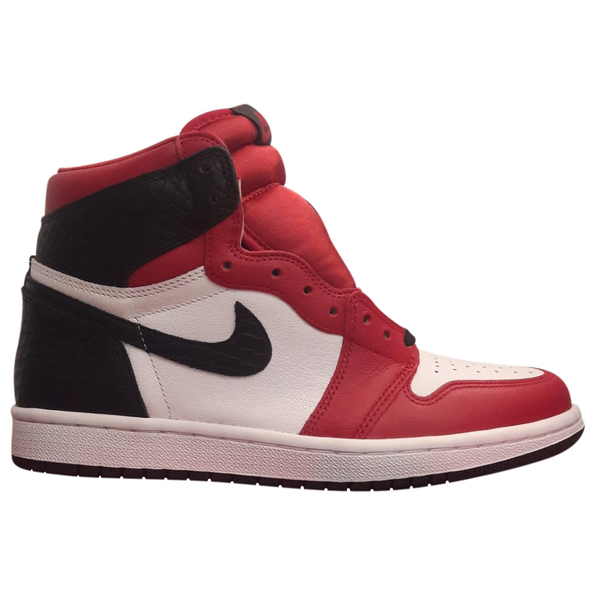 Jordan Air Jordan 1  Sneakers in  Rot Leder