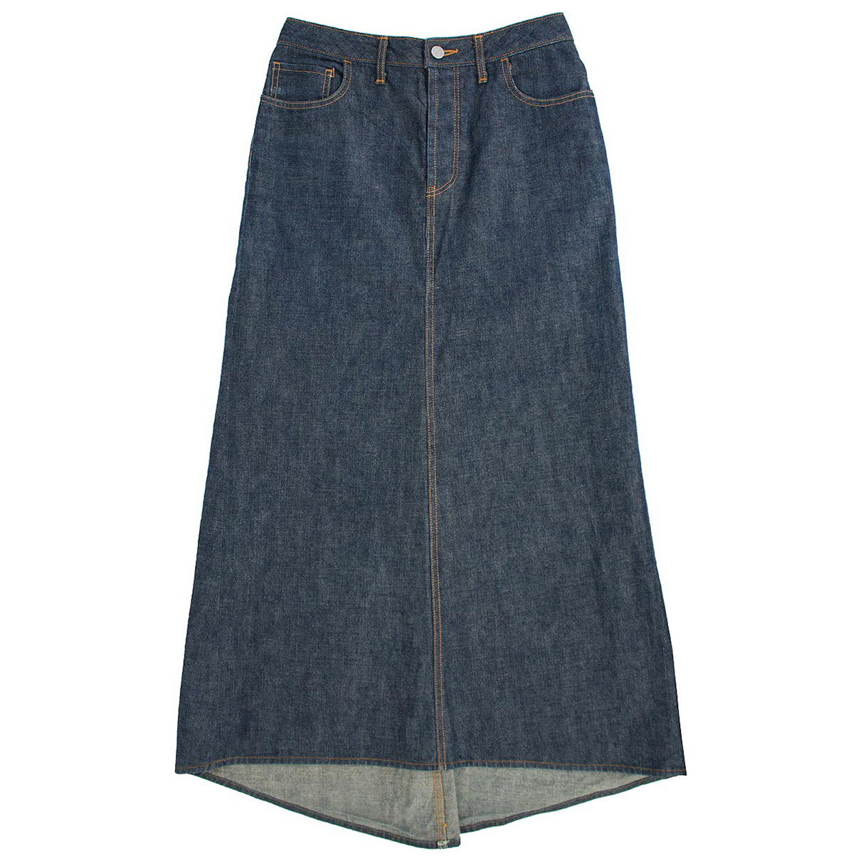 Dries Van Noten - Jupe   pour femme en denim - bleu