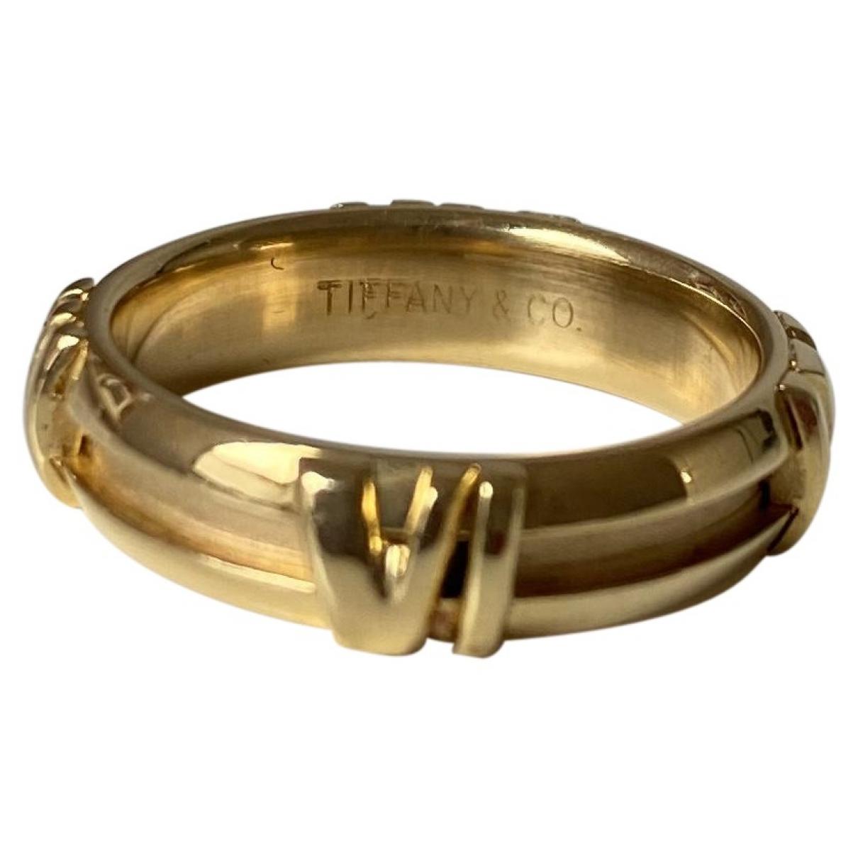 Tiffany & Co - Bague Atlas pour femme en or jaune - jaune