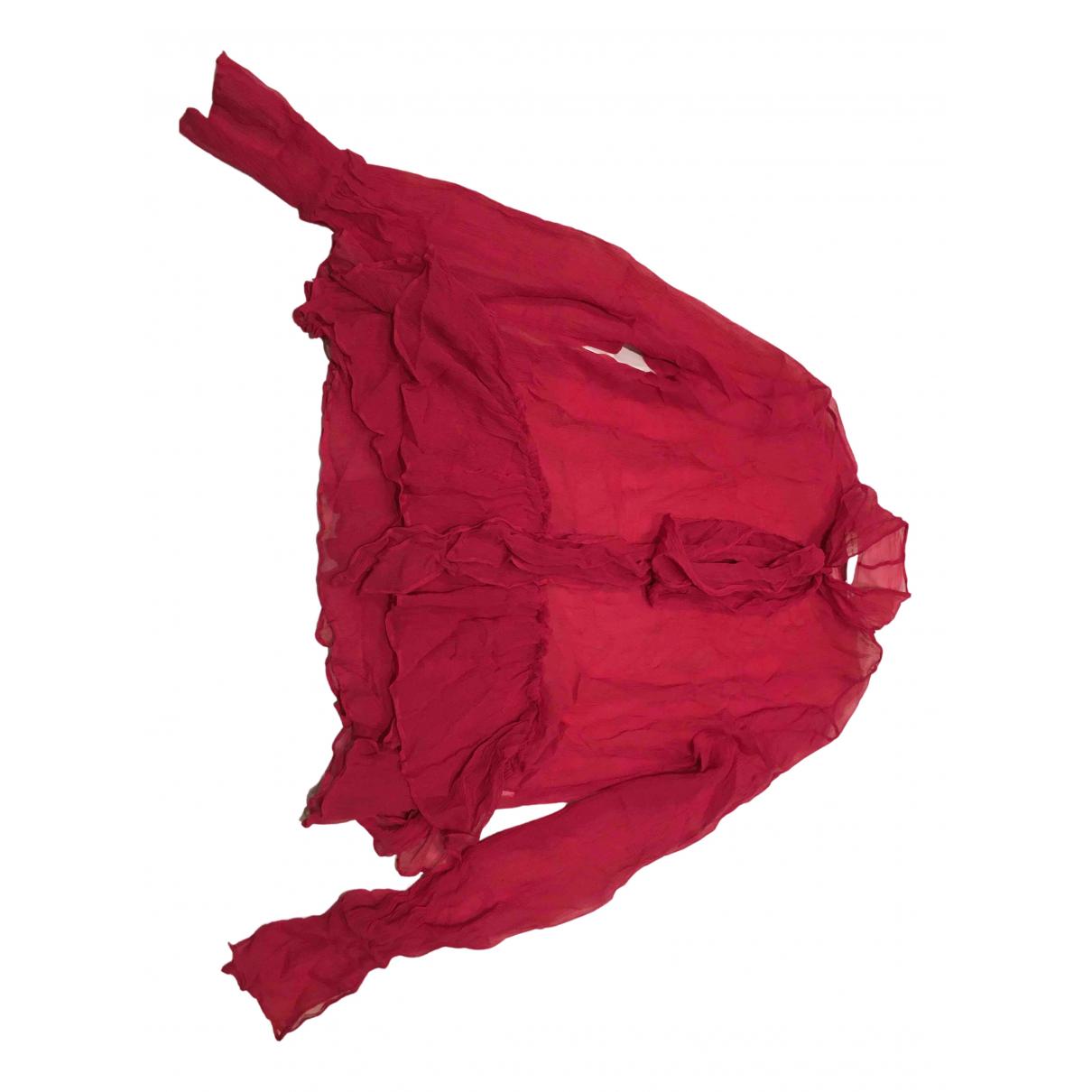 Mary Katrantzou - Top   pour femme en soie - rouge