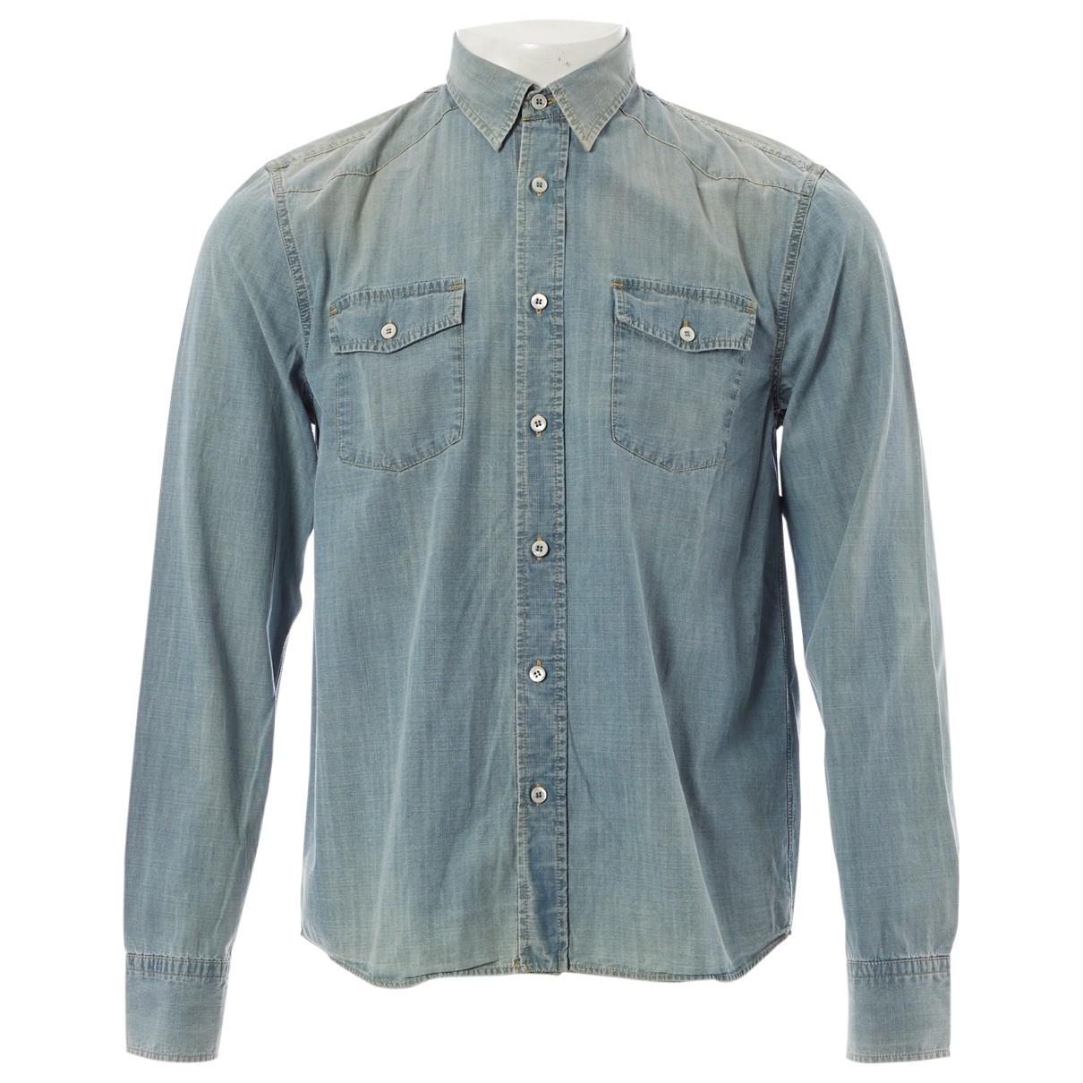 Prada \N Blue Denim - Jeans Shirts for Men 41 EU (tour de cou / collar)