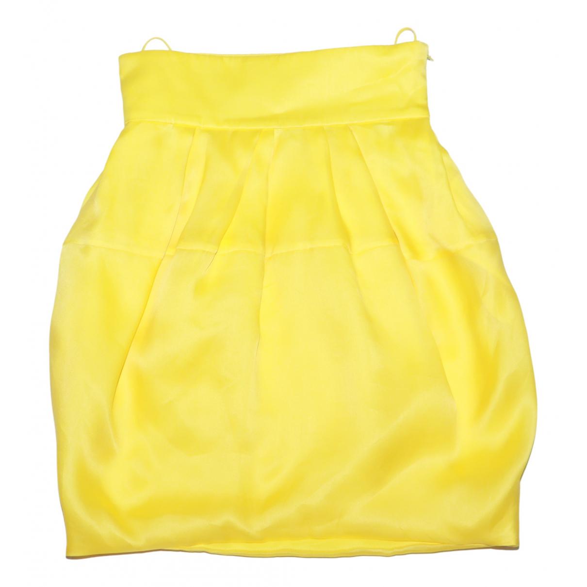 Dior - Jupe   pour femme en soie - jaune