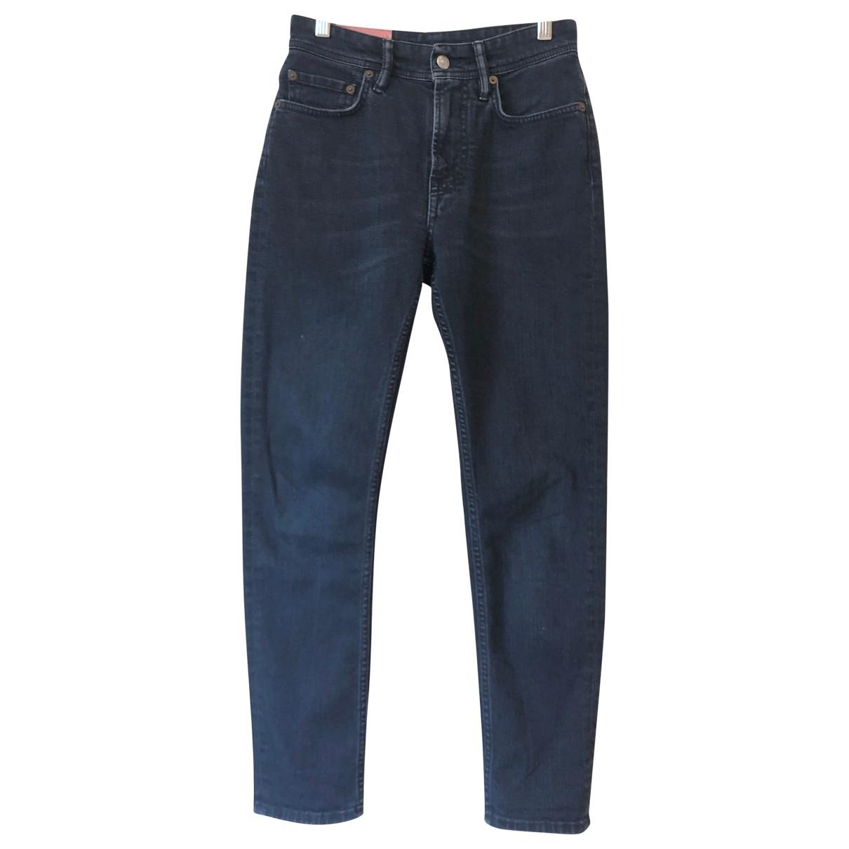 Acne Studios Blå Konst Blue Cotton Jeans for Women 25 US