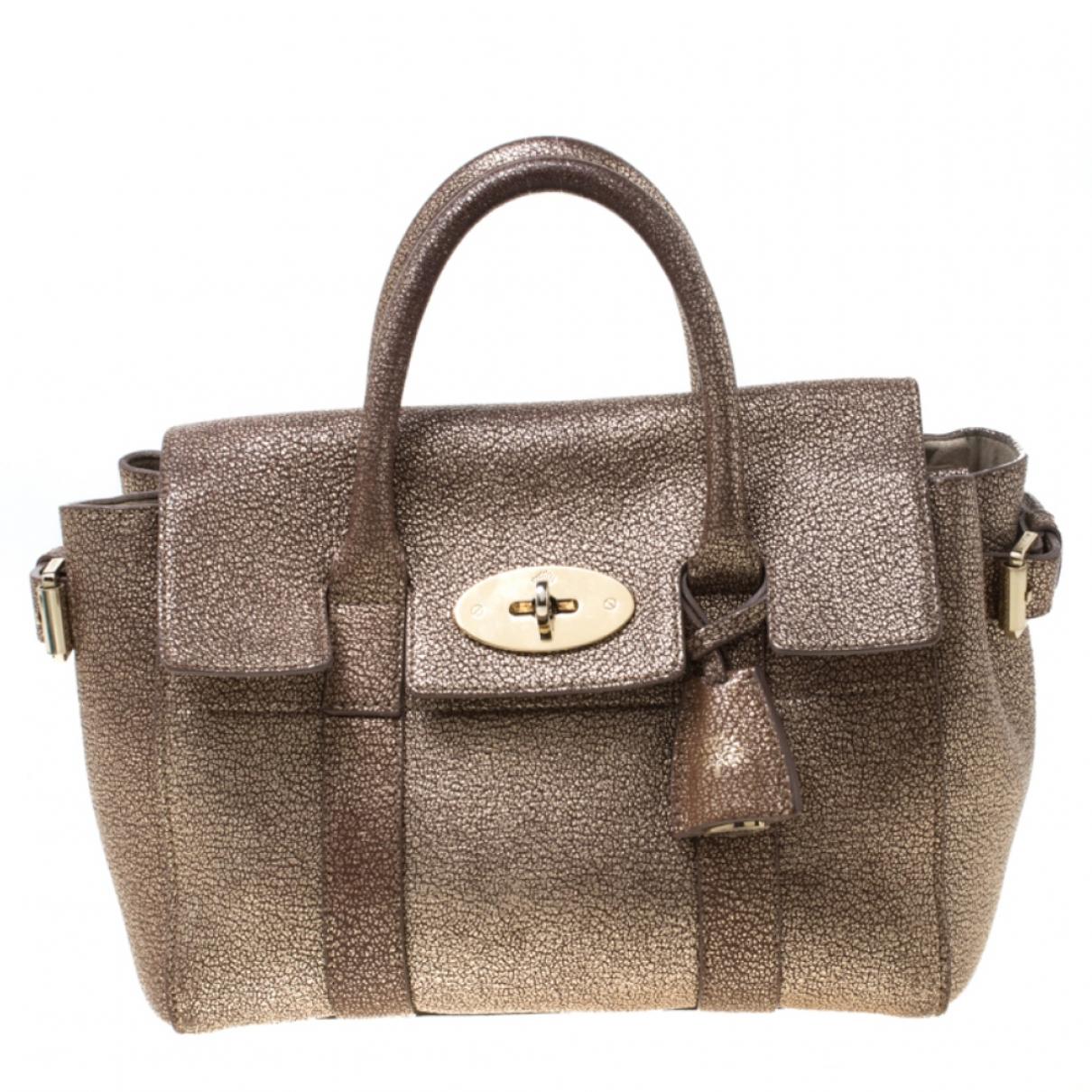 Mulberry Bayswater Handtasche in  Metallic Leder