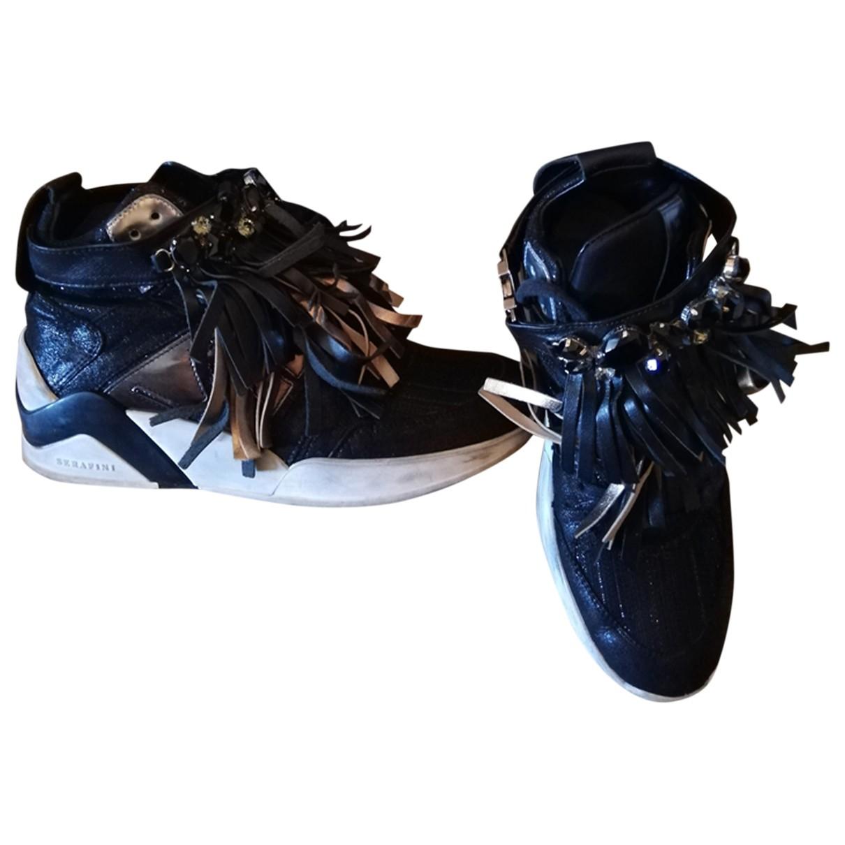Serafini \N Sneakers in  Schwarz Leder