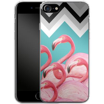 Apple iPhone 8 Silikon Handyhuelle - Flamingo Pattern von Mark Ashkenazi