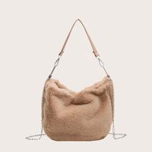 Girls Fluffy Large Capacity Shoulder Bag