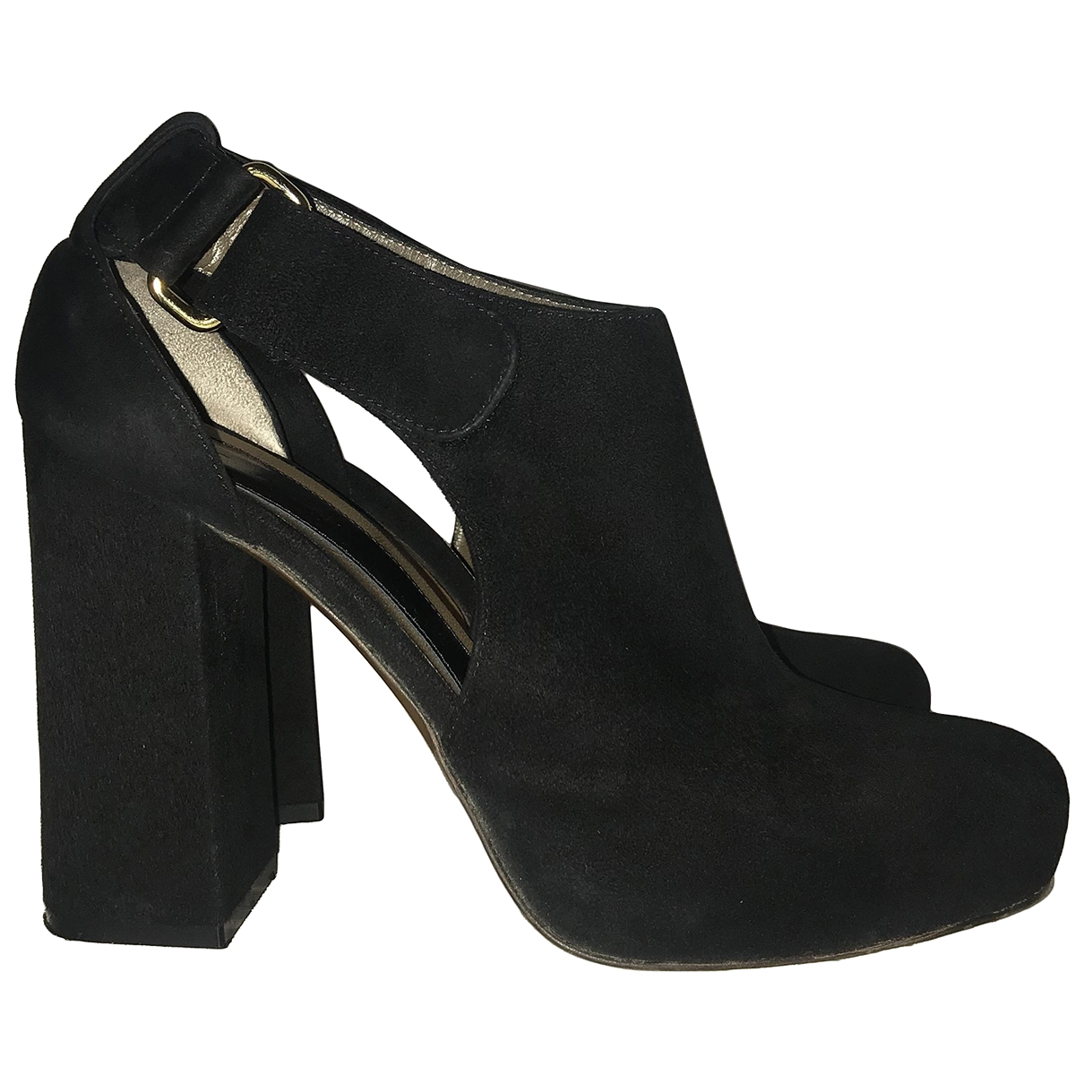 Marni \N Black Suede Ankle boots for Women 40 EU
