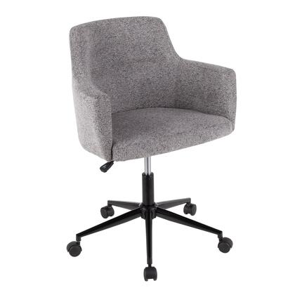 OC-ANDRW BK+GY Andrew Contemporary Office Chair in Dark Grey