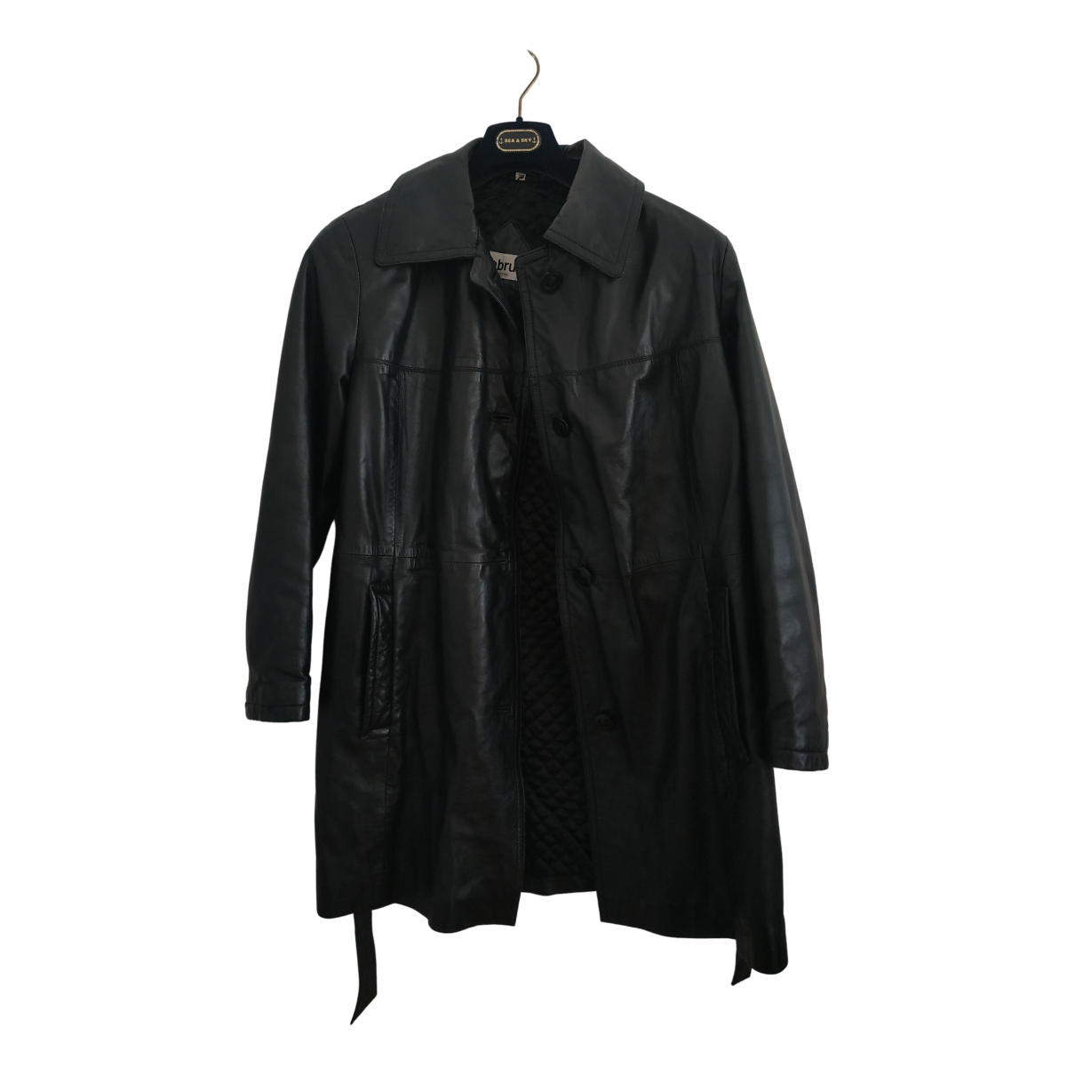 Mabrun N Black Leather Leather jacket for Women 46 IT