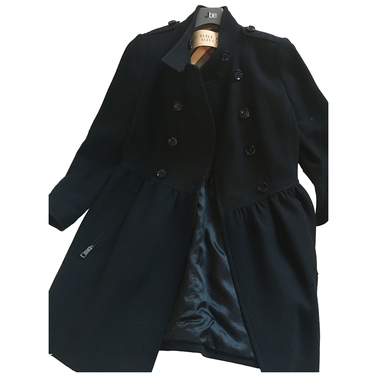 Burberry \N Black Wool coat for Women 44 IT