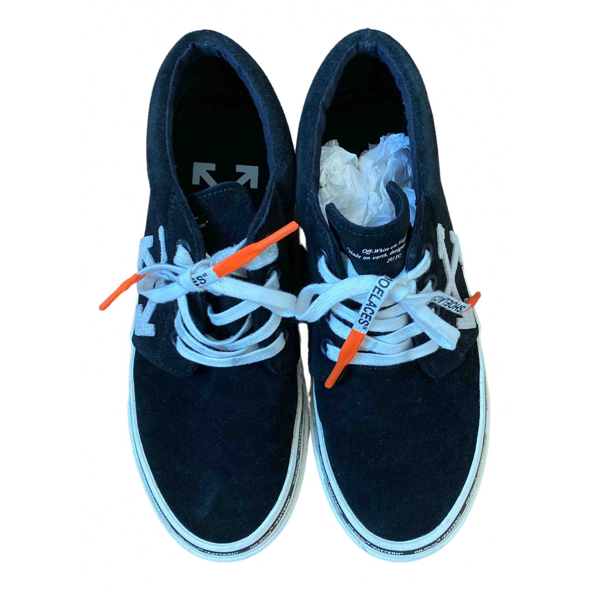 Off-white \N Black Suede Trainers for Men 42 IT