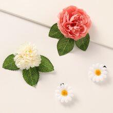 4 piezas horquilla de niñitas con flor
