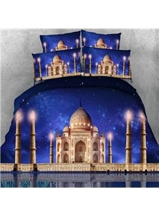 Attractive Galaxy and Castle Print 5-Piece Comforter Sets