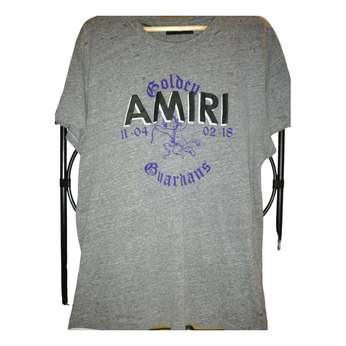 Amiri \N Grey Cotton T-shirts for Men L International