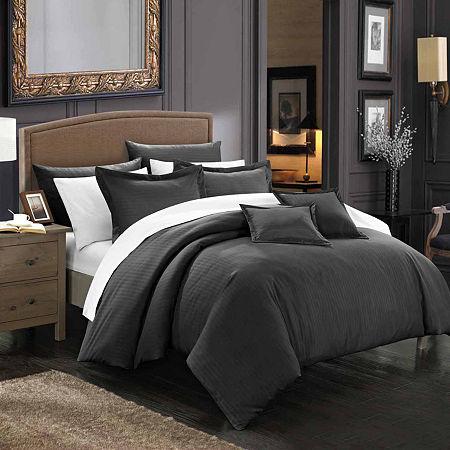 Chic Home Khaya Midweight Comforter Set, One Size , Black