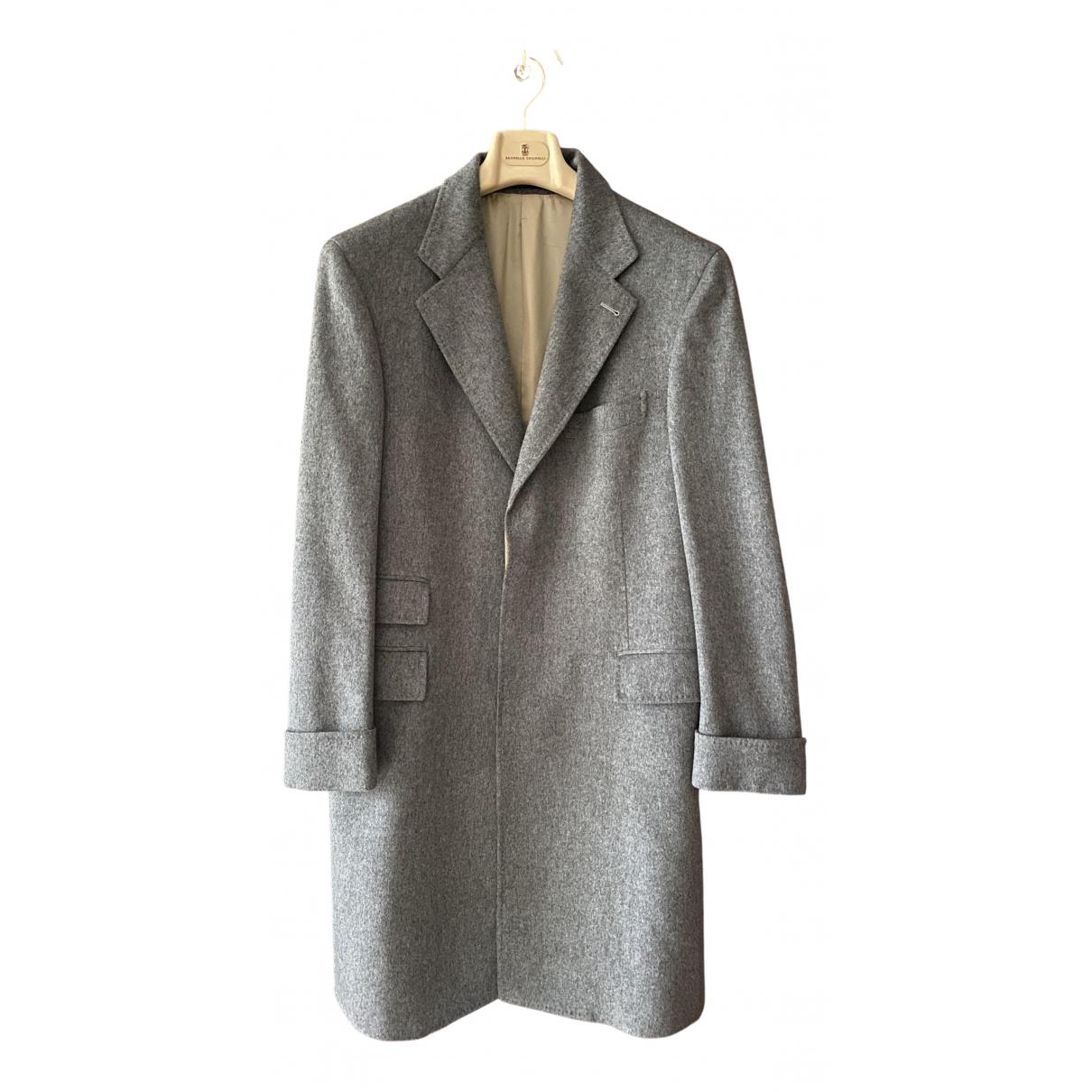 Brunello Cucinelli - Manteau   pour homme en cachemire - gris