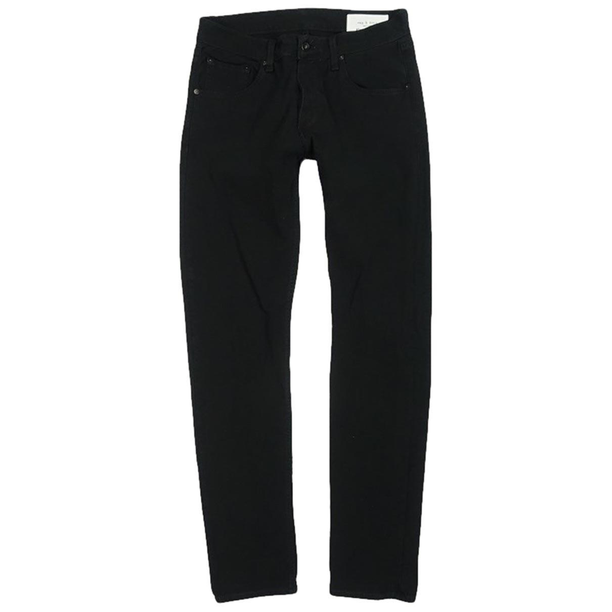 Rag & Bone \N Black Cotton - elasthane Jeans for Men 33 US