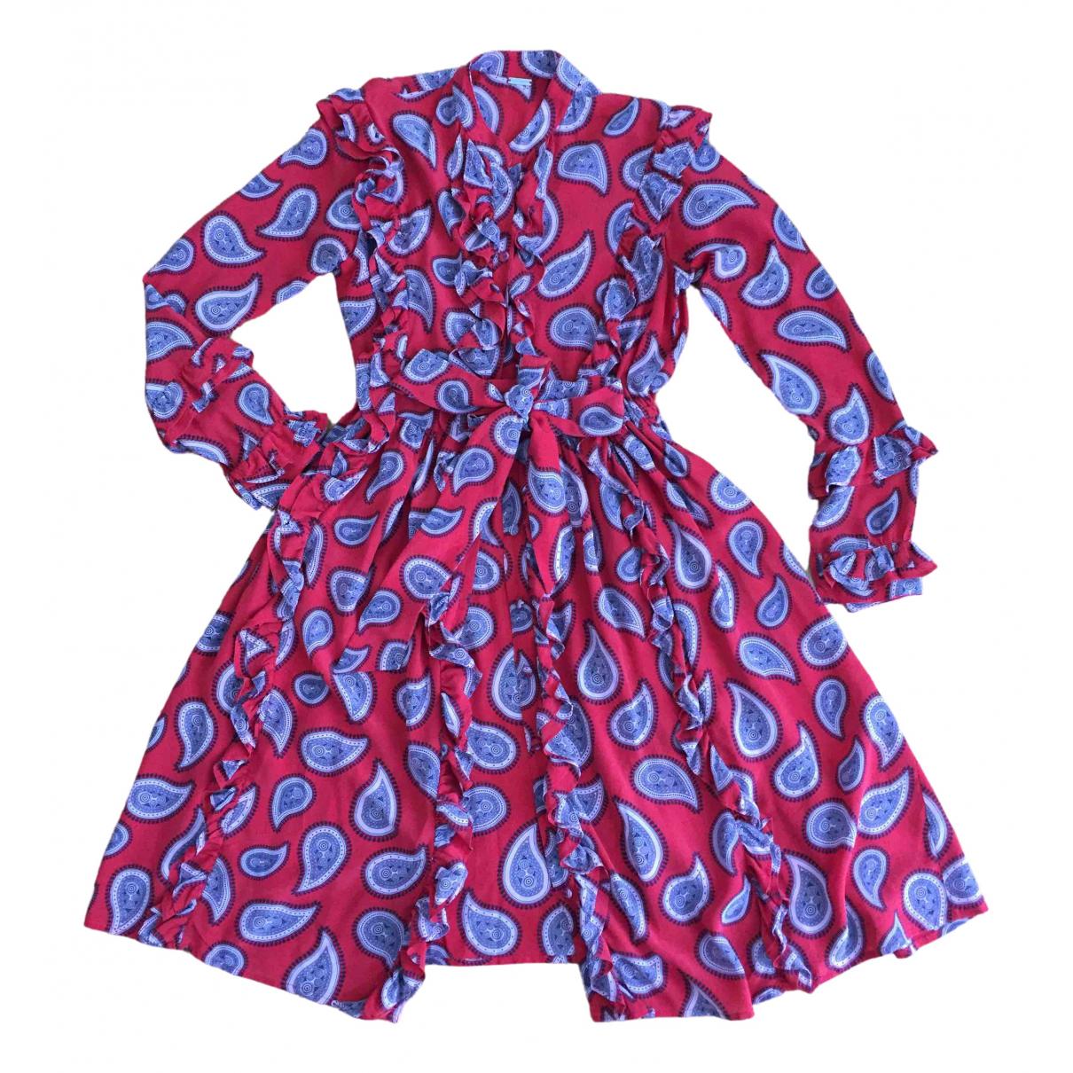 Dodo Bar Or \N Kleid in  Rot Seide